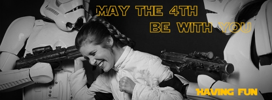 Image result for carrie fisher may the 4th be with you