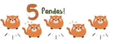 5 pandas
