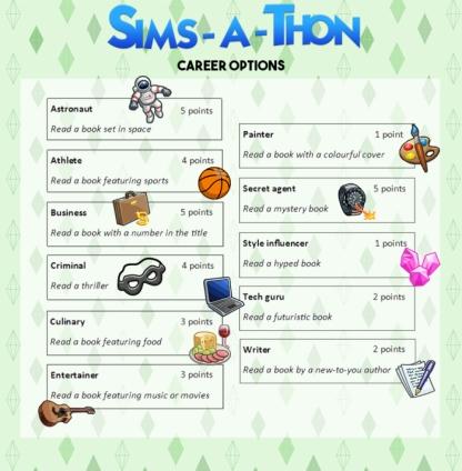 simsathon-career-option-challenges
